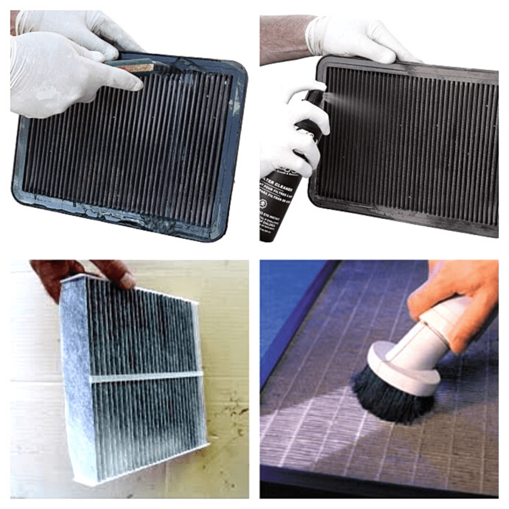 HEPA filter cleaning